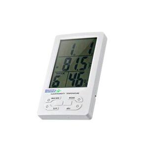Termómetro Higrómetro Digital Máxima y Mínima con Reloj