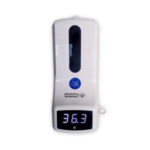 Dispensador Alcohol Gel y Termómetro Automático Sin Contacto