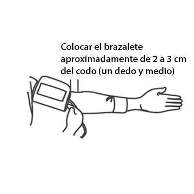 Colocación Tensiómetro Medidor de Presión Arterial
